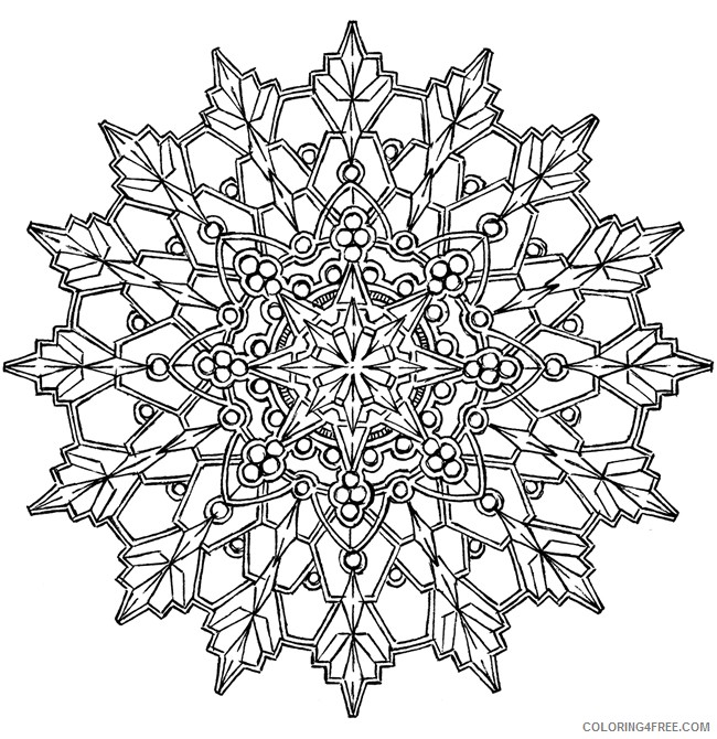 cool kaleidoscope coloring pages Coloring4free