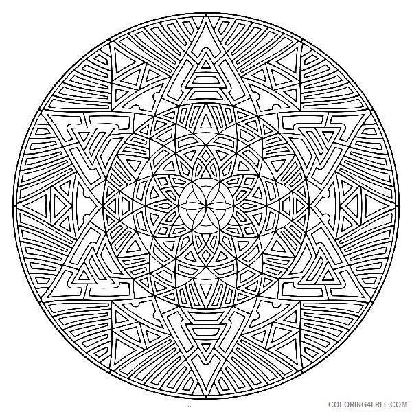 cool kaleidoscope coloring pages for adults Coloring4free