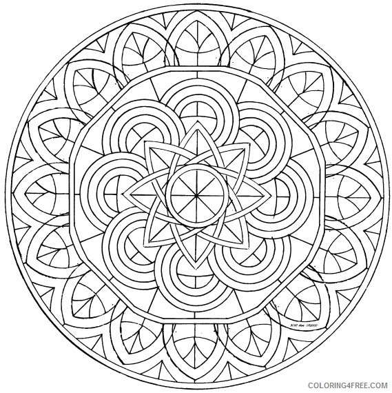 cool kaleidoscope coloring pages to print Coloring4free