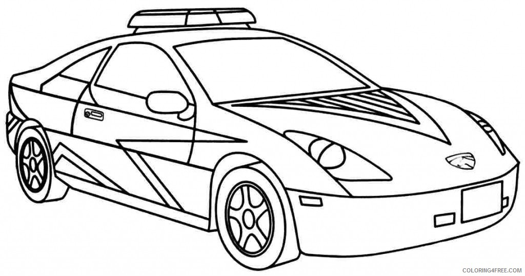 cool police car coloring pages Coloring4free