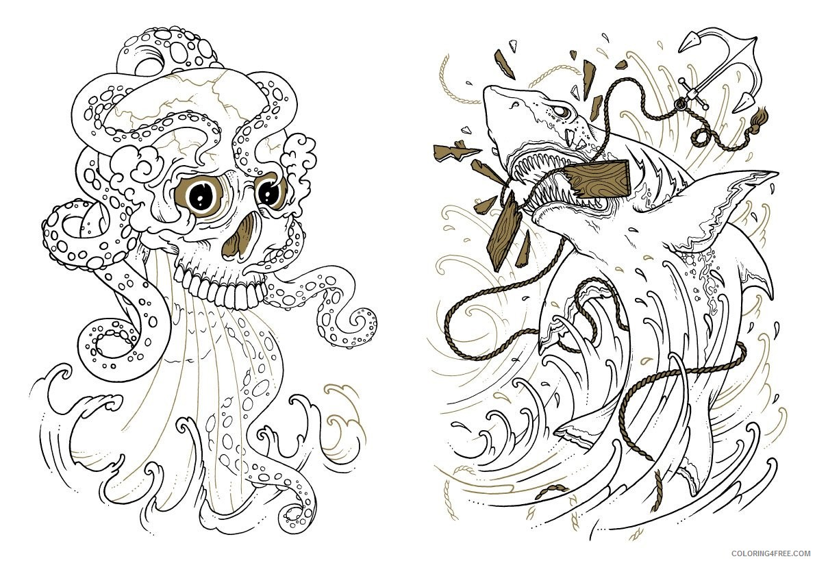 cool tattoo coloring pages Coloring4free
