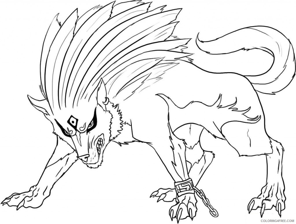 cool wolf coloring pages for boys Coloring4free