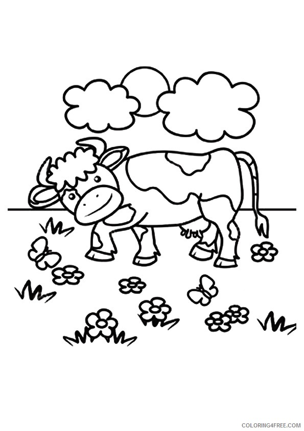 cow coloring pages for children Coloring4free