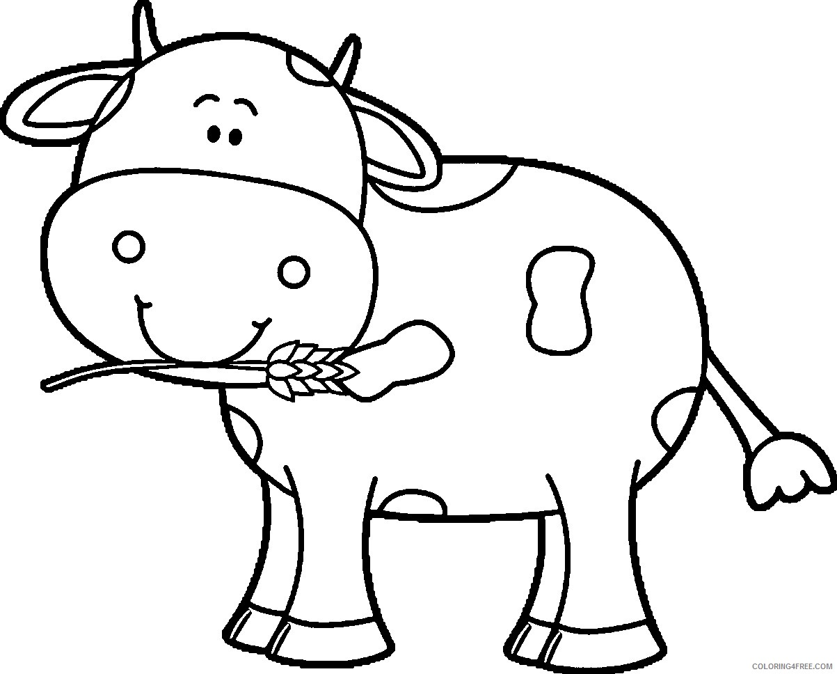 cow coloring pages for preschooler Coloring4free