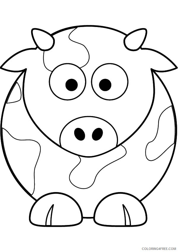 cow coloring pages for toddlers Coloring4free
