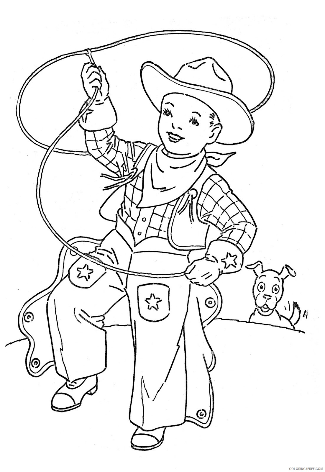 cowboy kids coloring pages Coloring4free