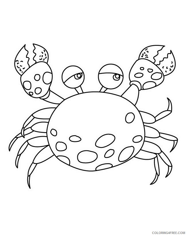 crab coloring pages for kids printable Coloring4free