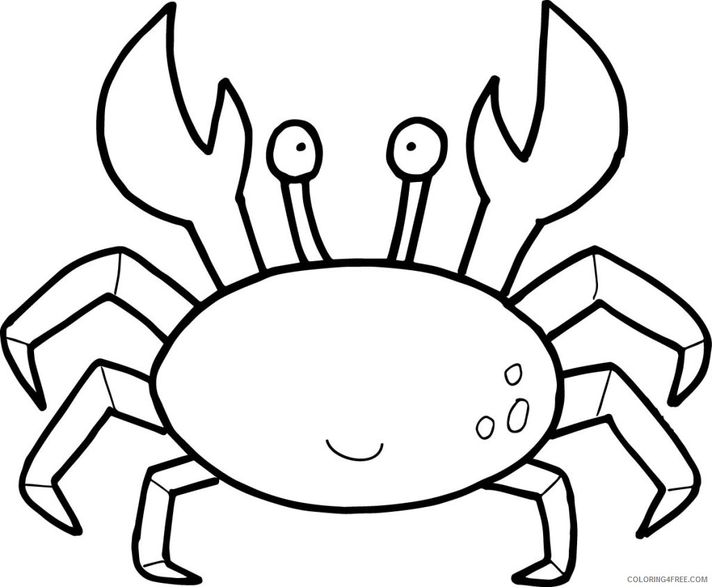 crab coloring pages for toddler Coloring4free