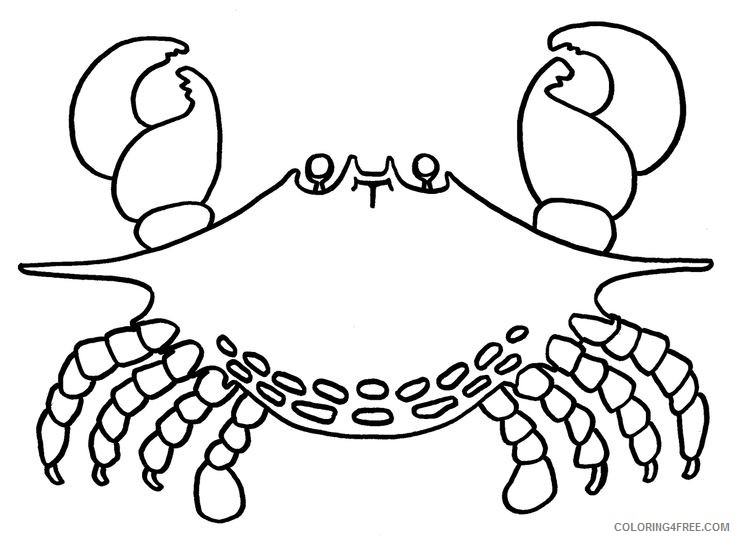 crab coloring pages printable Coloring4free