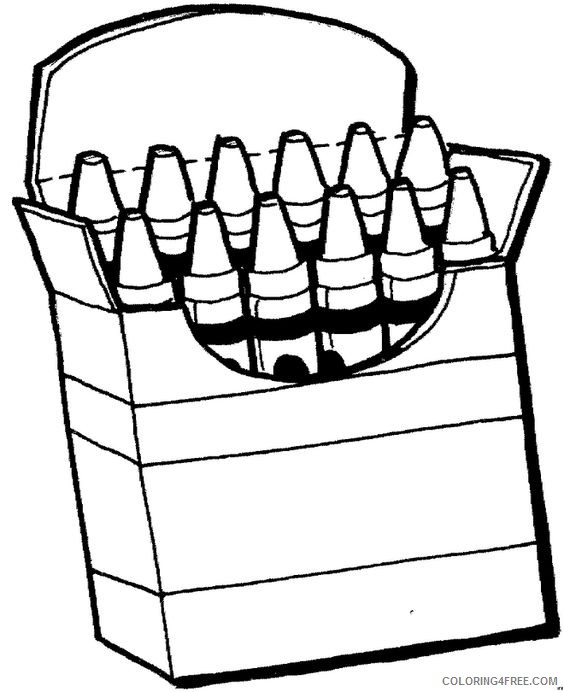 crayon box coloring pages printable Coloring4free