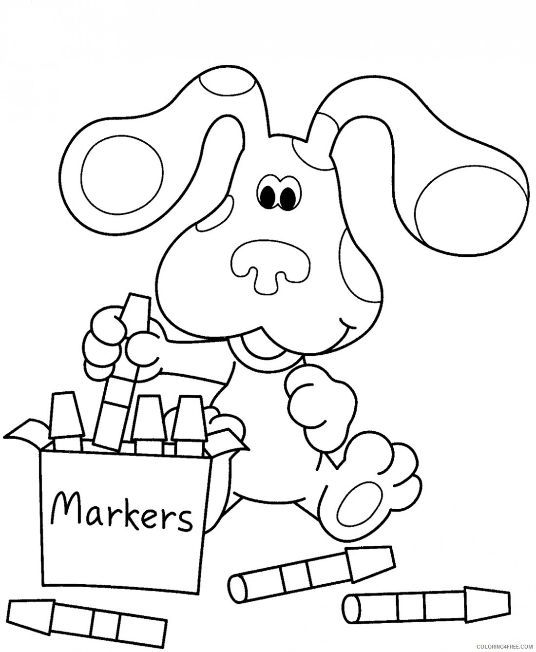 crayon coloring pages blues clues Coloring4free