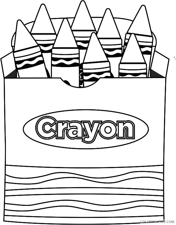 crayon coloring pages in the box Coloring4free