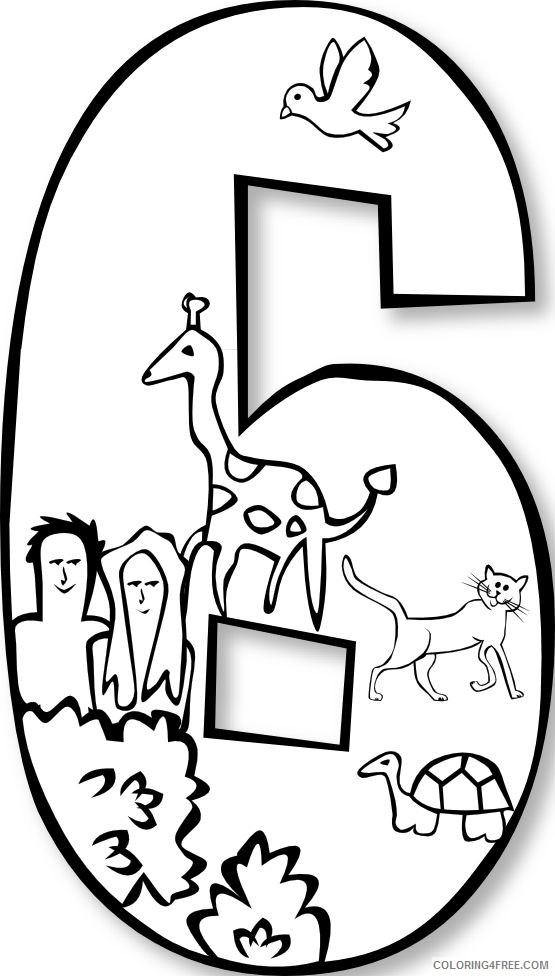 creation coloring pages day 6 Coloring4free