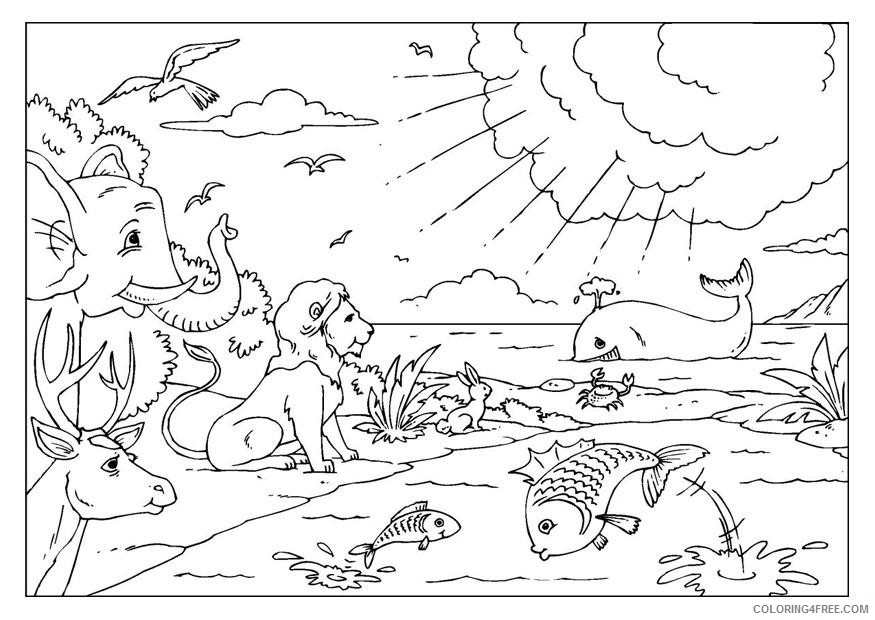 creation coloring pages printable Coloring4free