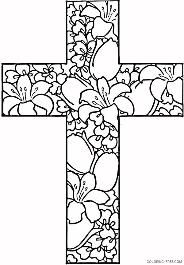 cross coloring pages for adults Coloring4free