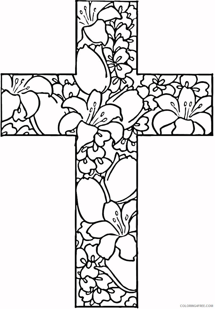 cross coloring pages for teens Coloring4free