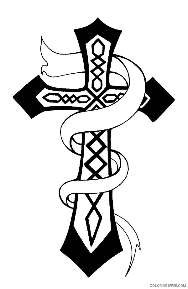 cross coloring pages free to print Coloring4free