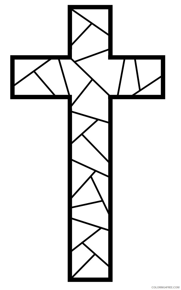 cross coloring pages to print Coloring4free