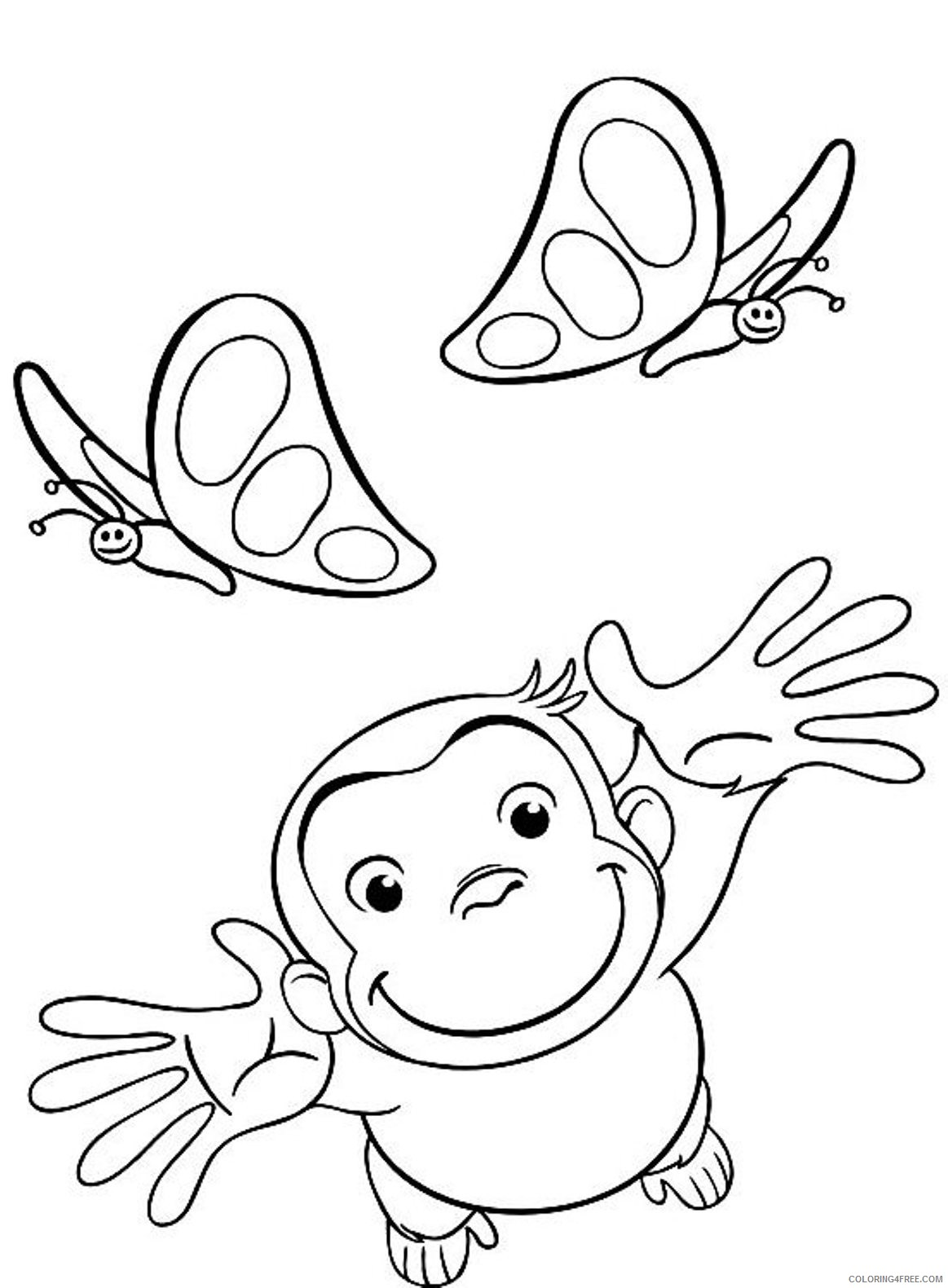 curious george coloring pages and butterfly Coloring4free
