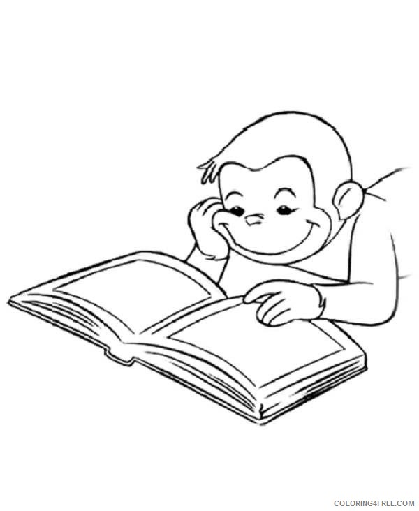 curious george coloring pages reading book Coloring4free