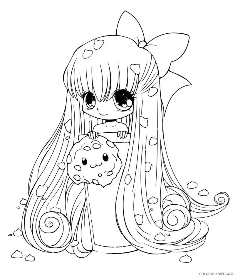 cute anime coloring pages chibi Coloring4free