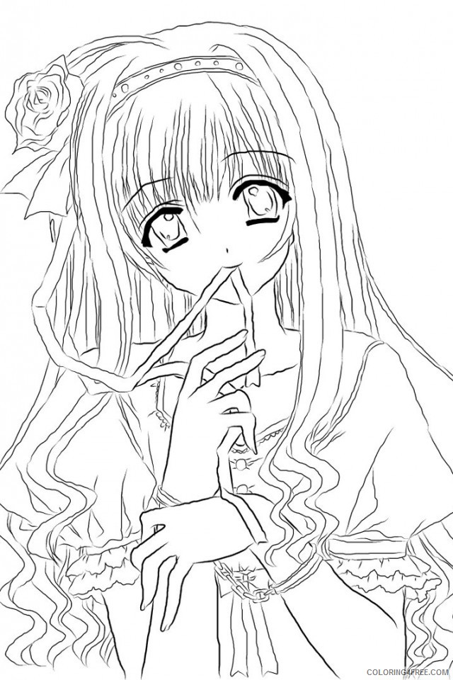cute anime girl coloring pages Coloring4free