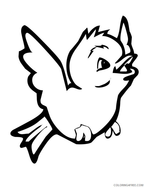 cute bird coloring pages flying Coloring4free