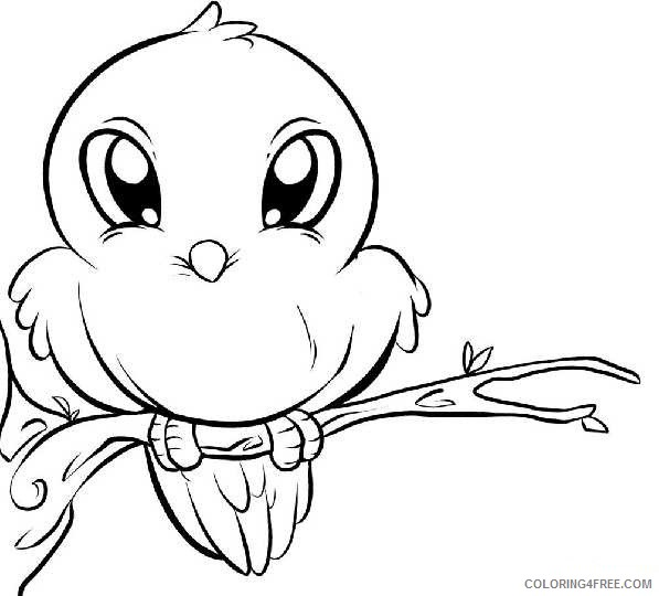 cute bird coloring pages perching Coloring4free