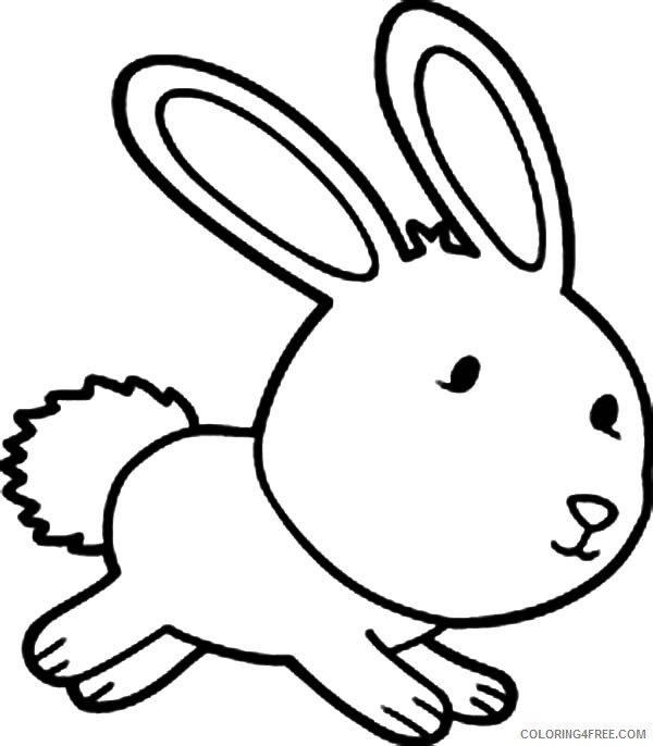 cute bunny coloring pages printable Coloring4free