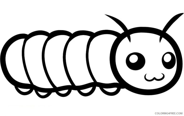 cute caterpillar coloring pages printable Coloring4free