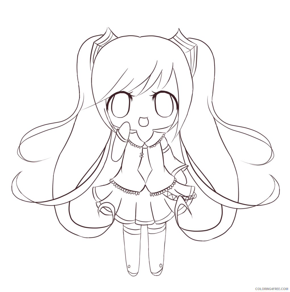 cute chibi coloring pages anime Coloring4free