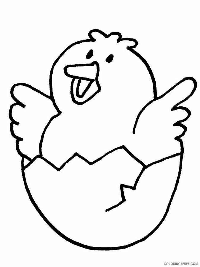 cute chicken coloring pages hatch Coloring4free