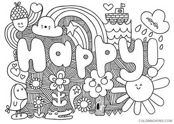 cute coloring pages for teens Coloring4free
