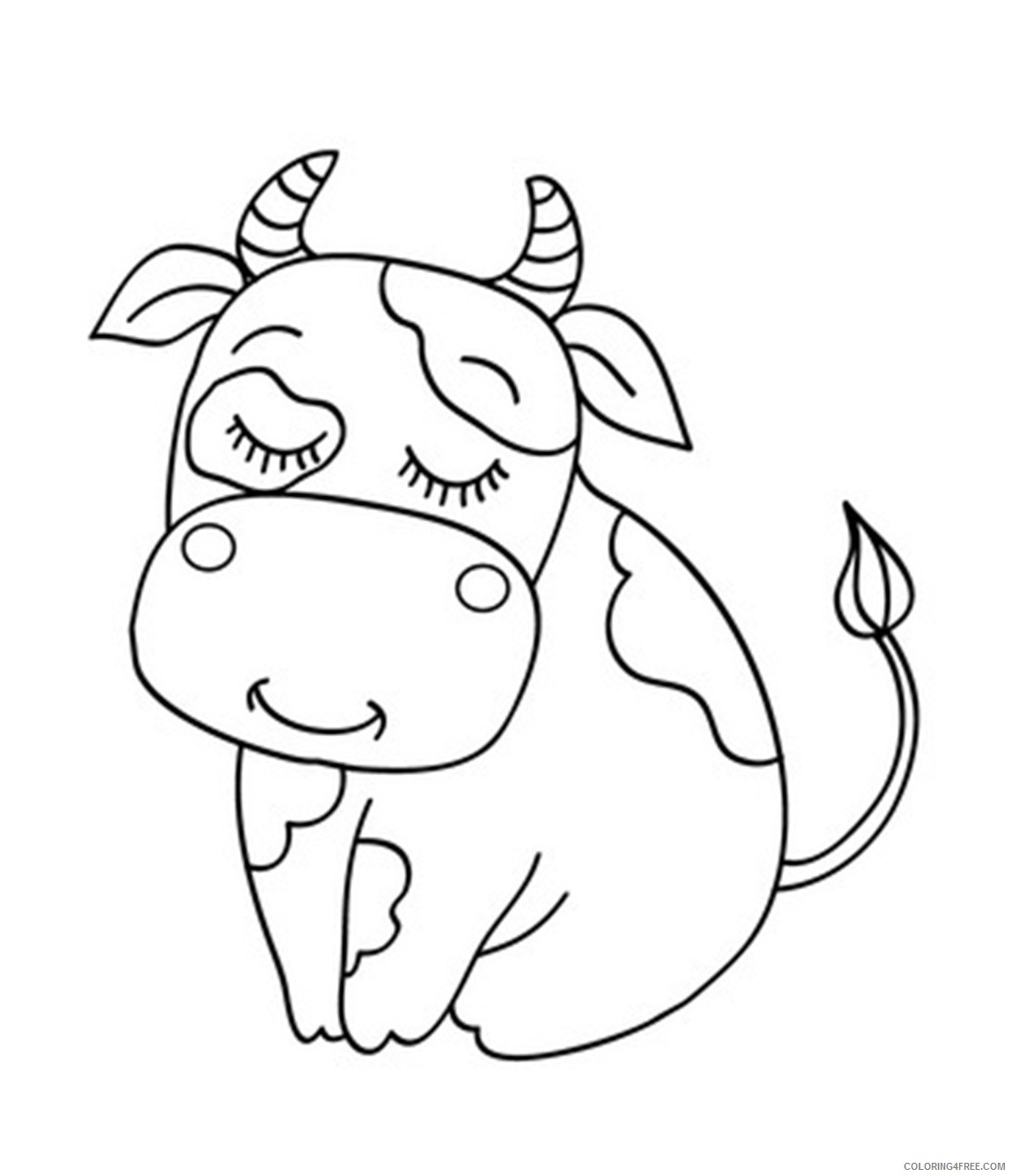 cute cow coloring pages to print Coloring4free