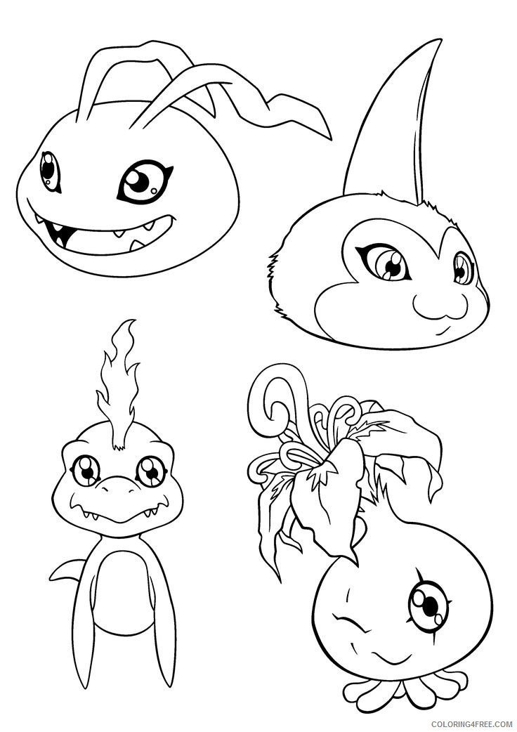 cute digimon coloring pages Coloring4free
