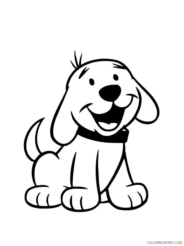 cute dog coloring pages for preschool Coloring4free