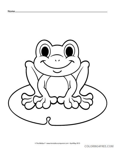 cute frog coloring pages Coloring4free