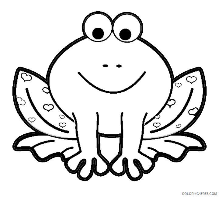 cute frog coloring pages for preschooler Coloring4free