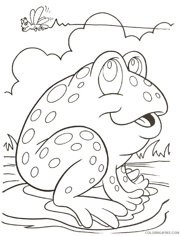 cute frog coloring pages on lily pad Coloring4free