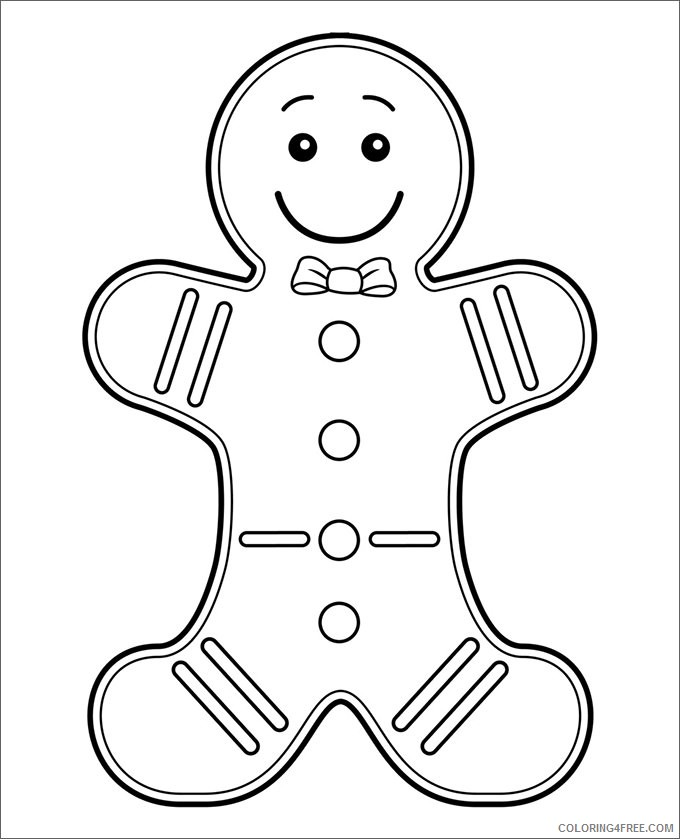cute gingerbread man coloring pages for kids Coloring4free