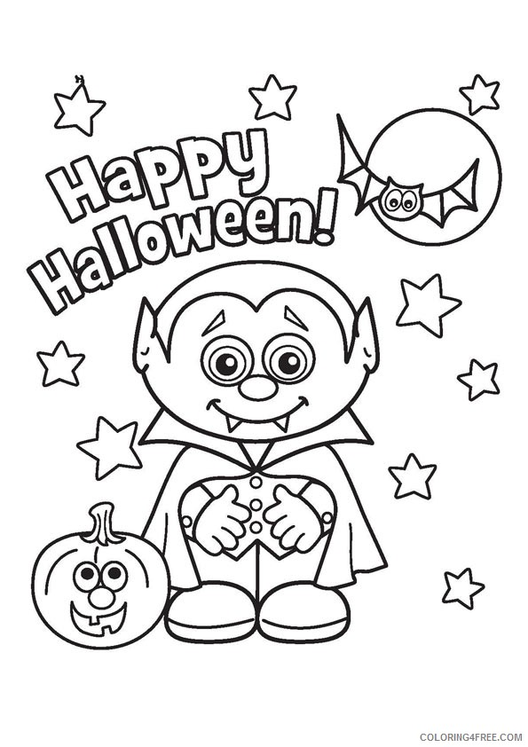 cute halloween vampire coloring pages Coloring4free