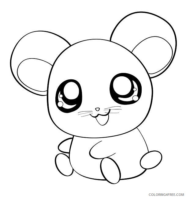 cute hamster coloring pages Coloring4free