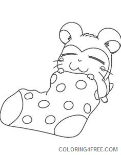 cute hamster coloring pages sleeping Coloring4free