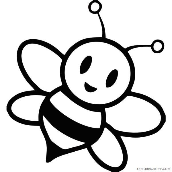 cute honey bee coloring pages Coloring4free