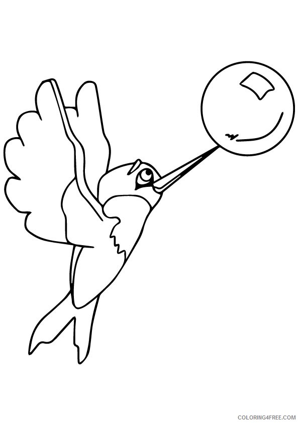 cute hummingbird coloring pages Coloring4free