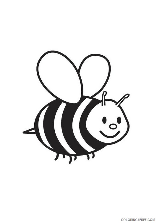 cute little bee coloring pages Coloring4free