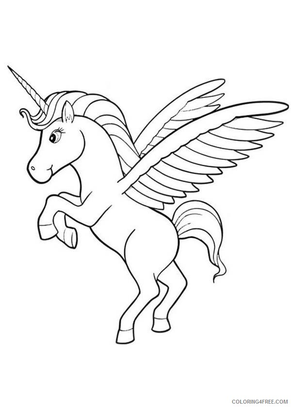 cute pegasus coloring pages Coloring4free