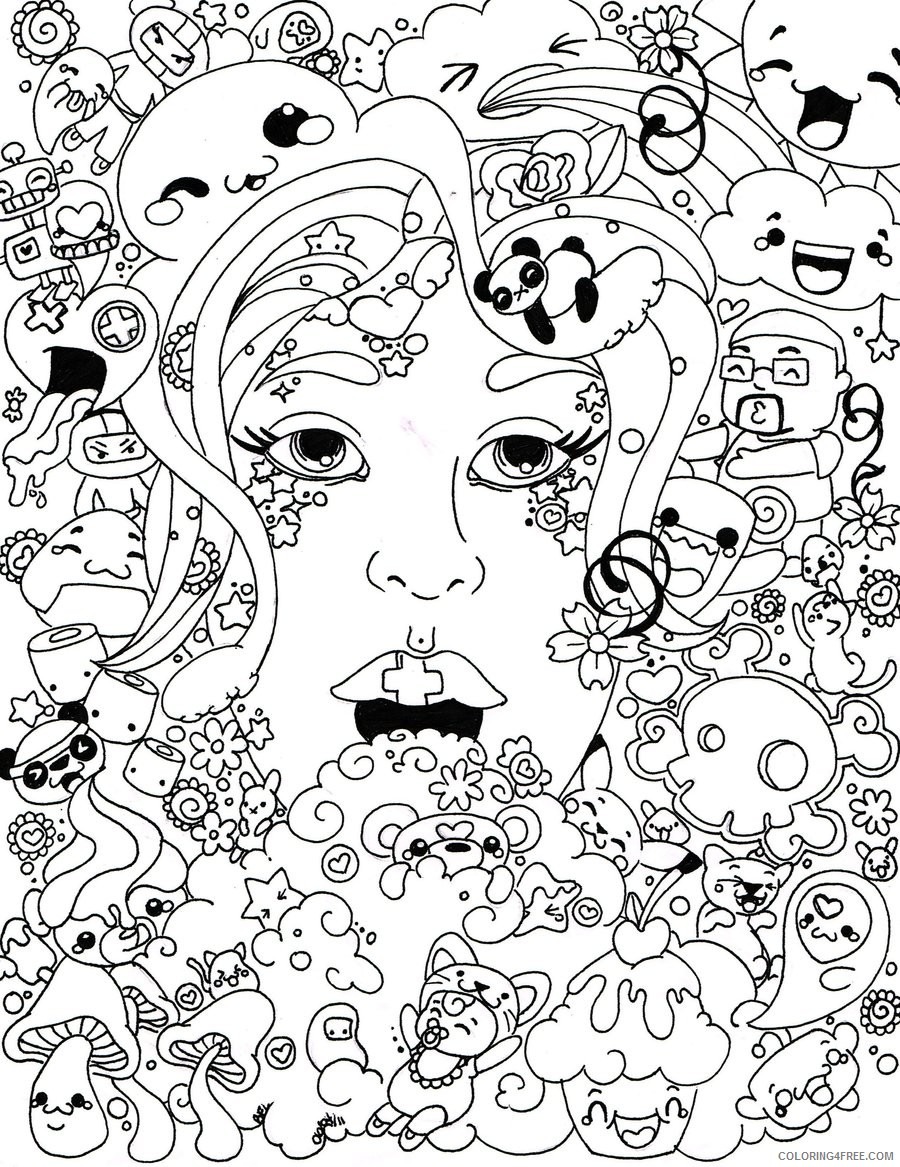cute psychedelic coloring pages Coloring4free