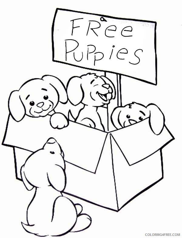 cute puppies coloring pages free Coloring4free