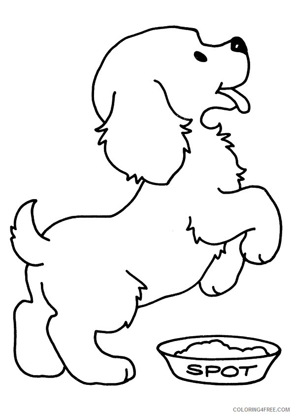 cute puppies coloring pages hungry Coloring4free